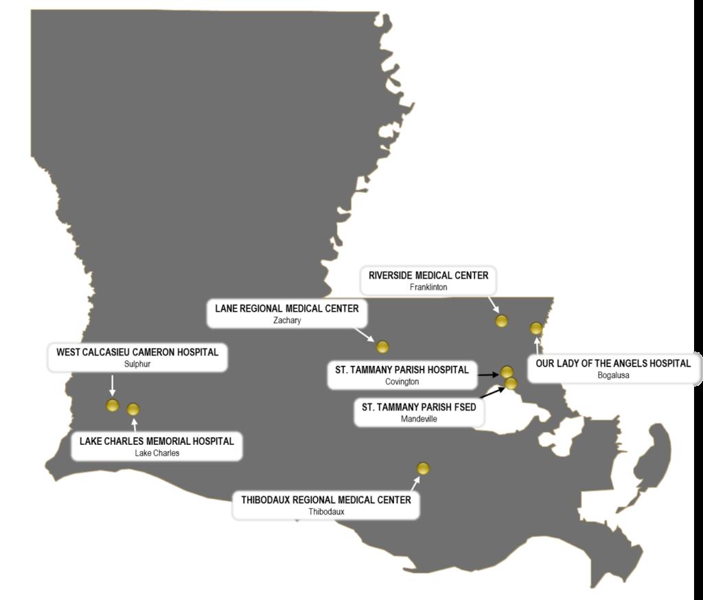 Professional Emergency Medicine Management (PEMM) Location Map
